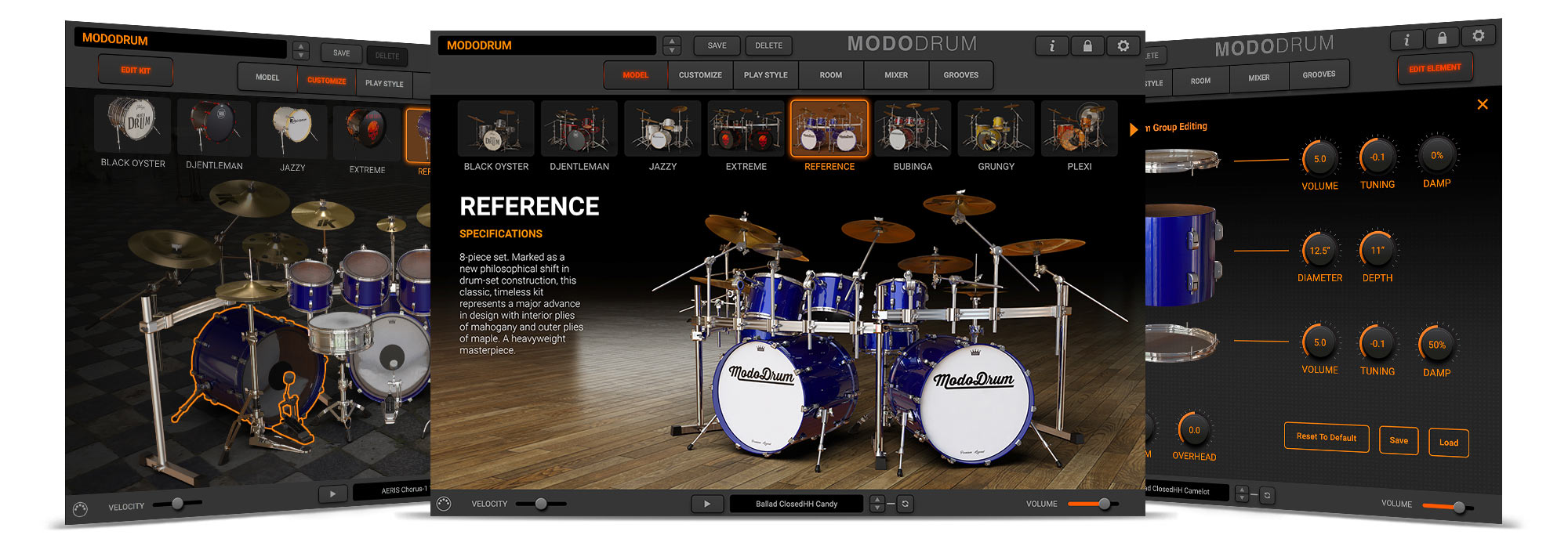 MODO DRUM breakthrough physical modeling drum virtual instrument